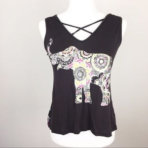 About a girl elephant graphic top